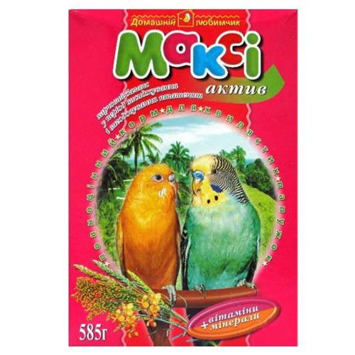 Макси корм для попугаев актив, 585 г + мелок.