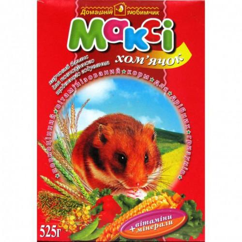 Макси корм хомячок, 525 г + мелок