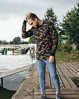 Стильный мужской свитшот милитари из трикотажа