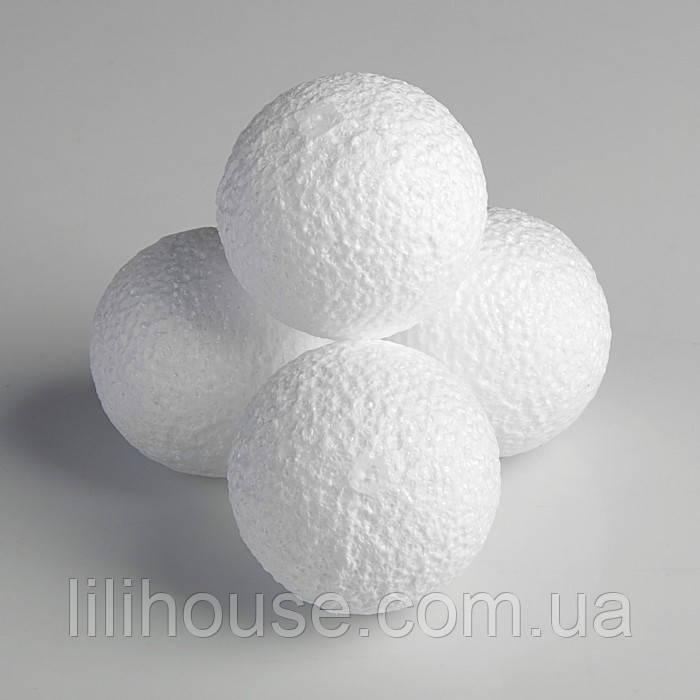 Шар пенопластовый - диаметр 8 см