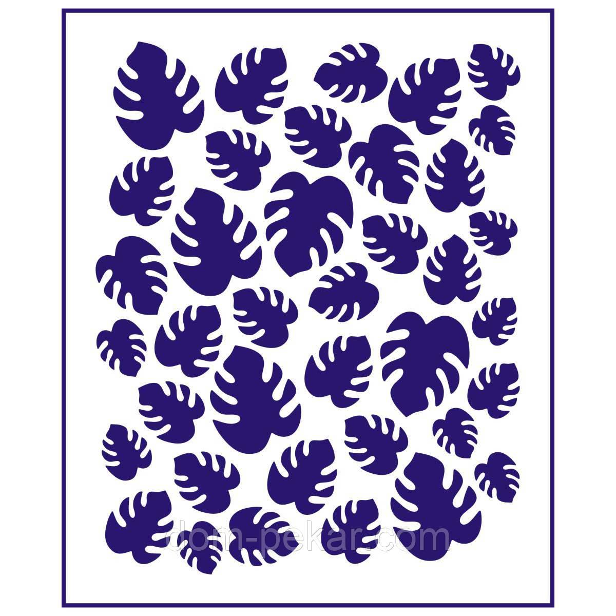 Трафарет Фон Тропические листья 12,5*10 см (TR-1)
