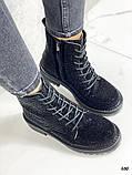Женские демисезонные ботинки со стразами, фото 2