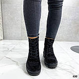 Женские демисезонные ботинки со стразами, фото 5