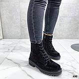 Женские демисезонные ботинки со стразами, фото 4