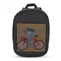 Рюкзак детский со светодиодным экраном 19x19 см серый BST 105152