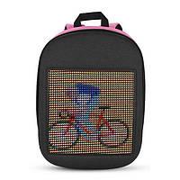 Рюкзак для девочки детский со светодиодным экраном 19x19 см розовый BST 105153