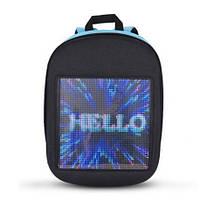Детский рюкзак со светодиодным экраном 19x19 см голубой BST 105154