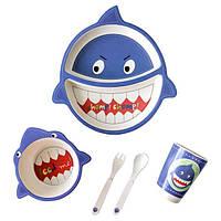 Набор детской посуды Акула BST 105189