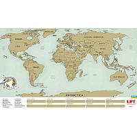 Скретч карта світу 88x52 см англійською мовою BST 105215