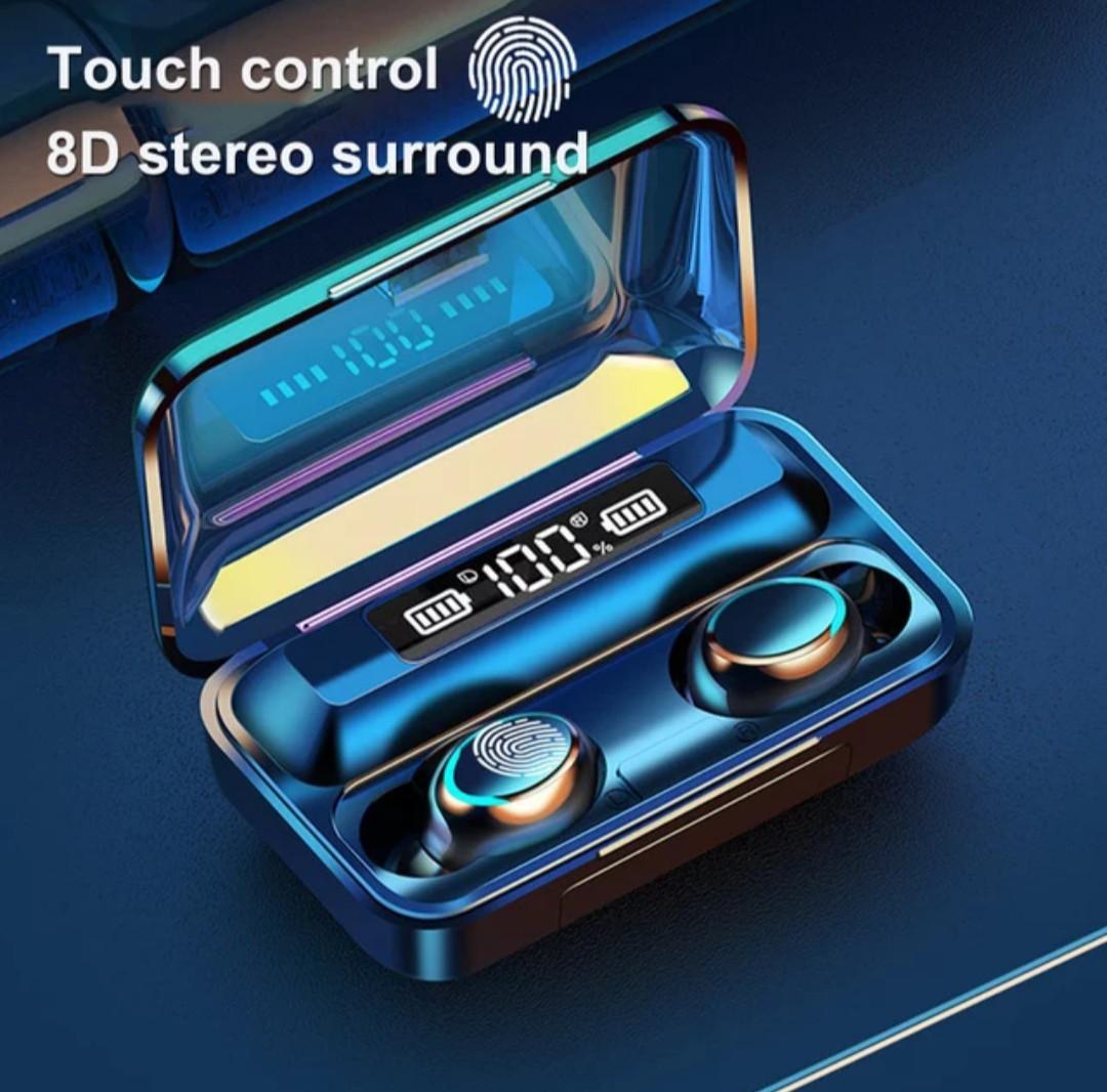 Беспроводные наушники TWS F9-5С  Bluetooth  5.0  с цифровым зарядным PНет в наличии