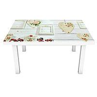 Виниловая наклейка на стол Лофт (интерьерная ПВХ пленка для мебели) белые доски деревянный фон Серый 600*1200 мм