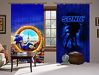 Штори 3D Сонік Портал, комплект з 2-х штор, фото 1