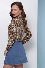 Блузка жіноча бежева річна з довгим рукавом. Тканина супер софт Повсякденний, офісні легка блуза, фото 2