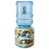 Керамічний диспенсер для води «Далматинець Зелений», фото 1