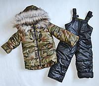 Детский зимний комбинезон на мальчика 92 размер, зимние костюмы детские