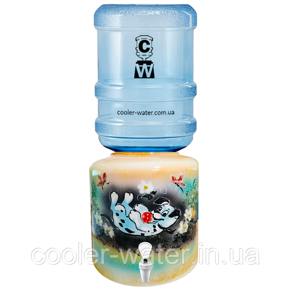 Керамический диспенсер для воды «Далматинец Желтый»