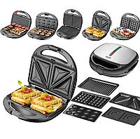 Сендвичница мультипекарь 4в1 Grant Hoff GT-779 1200W 4 в 1 сендвичница-гриль-вафельница, орешница