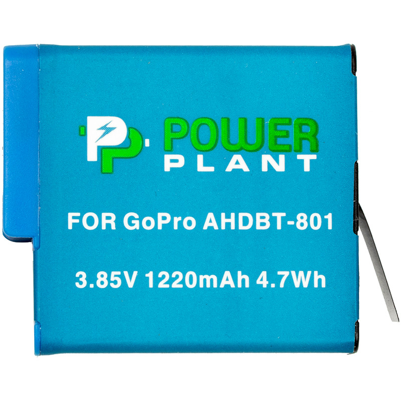 Аккумулятор PowerPlant GoPro AHDBT-801 1220mAh (декодирован)