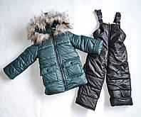 Детский зимний комбинезон для мальчика 98 размер, зимние костюмы детские, фото 1