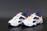 Жіночі кросівки Nike Tekno M2K в стилі найк текно Білі/Сині (Репліка ААА+), фото 2