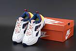 Жіночі кросівки Nike Tekno M2K в стилі найк текно Білі/Сині (Репліка ААА+), фото 5