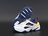 Жіночі кросівки Nike Tekno M2K в стилі найк текно Білі/Сині (Репліка ААА+), фото 6