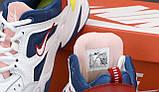Жіночі кросівки Nike Tekno M2K в стилі найк текно Білі/Сині (Репліка ААА+), фото 7