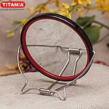 Зеркало косметическое круглое для бритья двустороннее с увеличением х2 на подставке TITANIA art.1500/MEN, фото 8