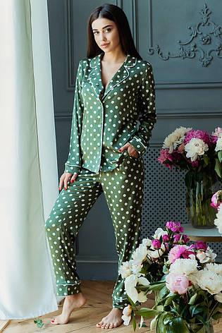 Пижама Кристи DONO (DPK3181, зелёный\белый горох), фото 2