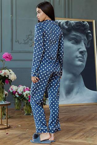 Пижама Кристи DONO (DPK3180, джинсовый\белый горох), фото 2
