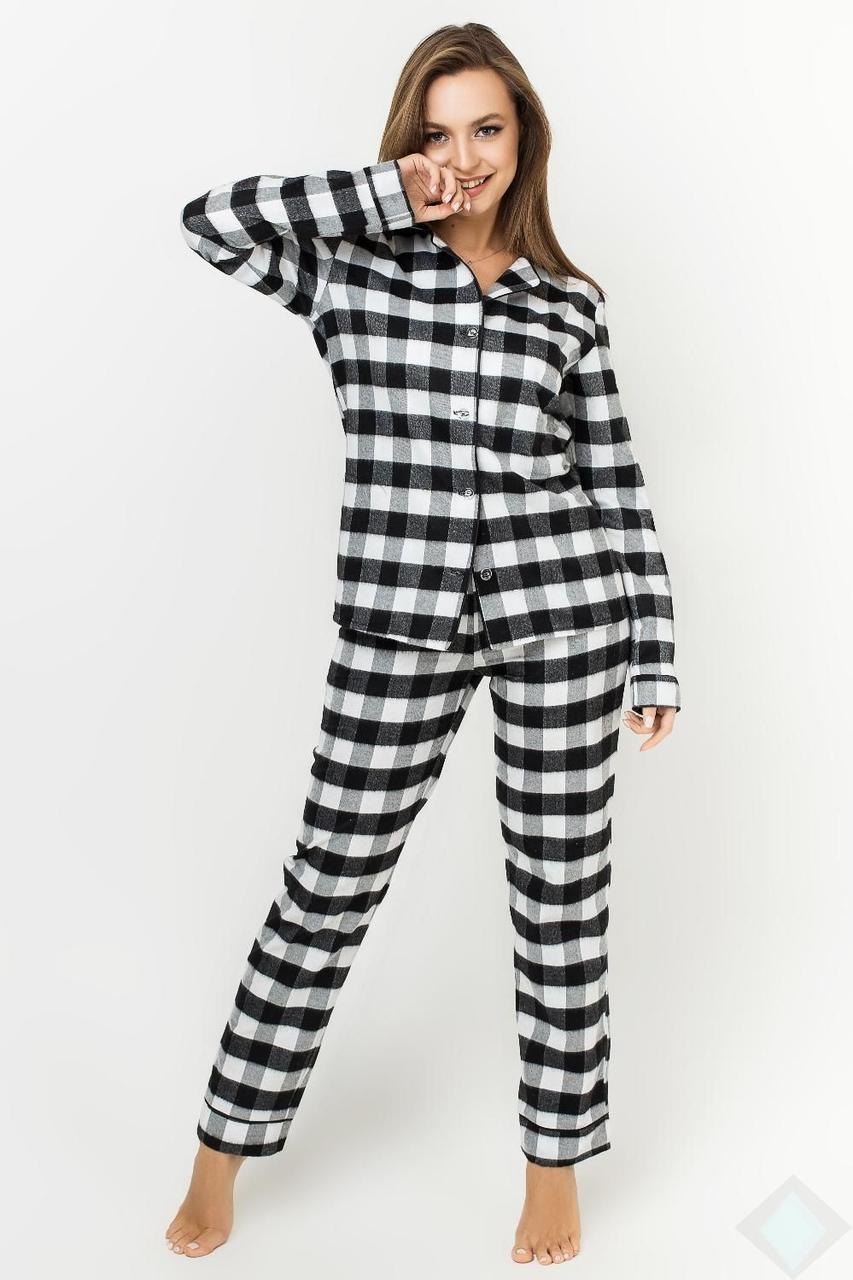 Пижама Кристи байка DONO (PK2985, клетка белый\черный)