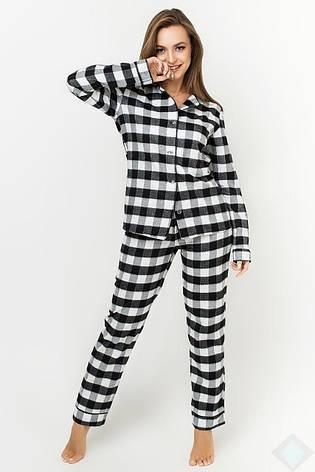 Пижама Кристи байка DONO (PK2985, клетка белый\черный), фото 2