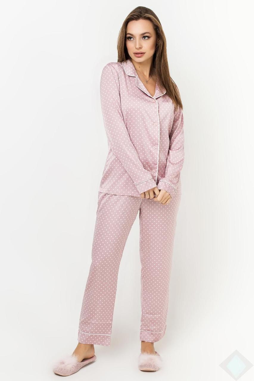 Пижама Кристи DONO (DPK2935, пудра\белый горох)