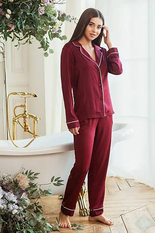 Пижама Кристи DONO, бордовый, фото 2