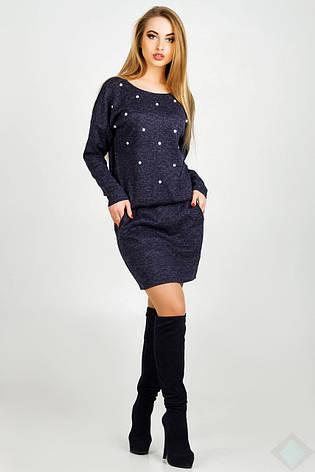 Платье женское Бренда, PB2002 синий, фото 2