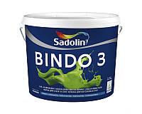 Краска интерьерная SADOLIN BINDO 3 латексная белый, 2.5л
