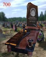 Пам'ятник бортовий фігурною різьбою, фото 1