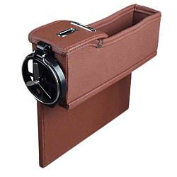 Автомобильный органайзер кожаный Brittiey Коричневый ( 26х15х7 см ) + Подарок