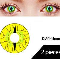 Желтые линзы Рептилия. Контактные линзы змеиный глаз. Желтые цветные линзы для глаз. Крейзи линзы