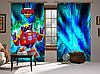 Штори 3D Бравл Старс Вольт, комплект з 2-х штор Brawl Stars