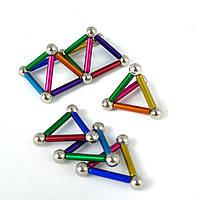 Магнітний конструктор Neo 36 паличок і 27 кульок Різнобарвний