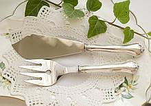 Столовый нож и вилка ля мяса с серебряными ручками, серебро 830 пробы, сталь, Финляндия