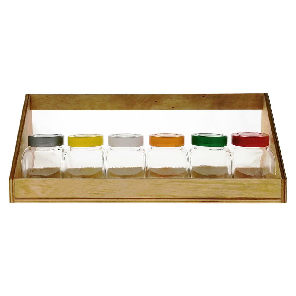 Набор на деревянной подставке банок EverGlass 200 мл. 7 предметов