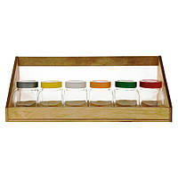 Набор на деревянной подставке банок EverGlass 200 мл. 7 предметов, фото 1