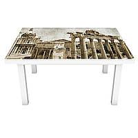 Виниловая наклейка на стол Античный город интерьерная ПВХ пленка для мебели колонны винтаж ретро Бежевый, фото 1