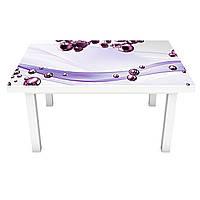 Виниловая наклейка на стол Фиолетовые Сферы (интерьерная ПВХ пленка для мебели) шары Абстракция 600*1200 мм, фото 1