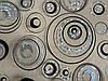 Скатертина м'яке скло Soft Glass з лазерним малюнком 2.2х0.8м (товщина 1.5 мм) Сріблясто-чорні кола, фото 3