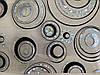 Скатертина м'яке скло Soft Glass з лазерним малюнком 2.2х0.8м (товщина 1.5 мм) Сріблясто-чорні кола, фото 7