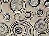 Скатертина м'яке скло Soft Glass з лазерним малюнком 2.2х0.8м (товщина 1.5 мм) Сріблясто-чорні кола, фото 8