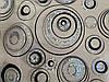 Скатертина м'яке скло Soft Glass з лазерним малюнком 2.2х0.8м (товщина 1.5 мм) Сріблясто-чорні кола, фото 10